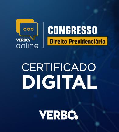 Certificado de Participação - Congresso Online de Direito Previdenciário